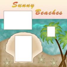 beach scrapbook layouts lovetoknow