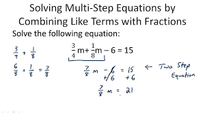 multi step equations with like terms and distribution video