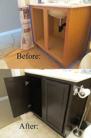 Refinish Oak Cabinets Bathroom 2017 Furniture Staining Black Color Oak Bathroom
