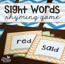 sight word worksheets match the rhyming word this reading mama