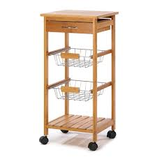 Wheeled Kitchen Island Rolling Kitchen Island Cart Portable Utility Osaka Kitchen Cart