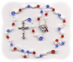 rosary for rosary for our vets white blue