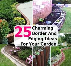 Rock Borders For Gardens Flower Garden Rock Borders Garden Border Ideas Vegetable Garden