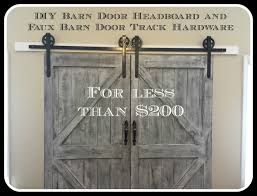 Headboard Made From A Door Cheaper And Better Diy Barn Door Headboard And Faux Barn Door