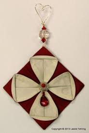 everyday artist fabric origami the prettiest ornaments on the