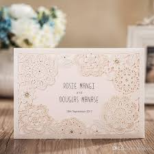 cheap wedding invitations online 2017 new custom made wedding invitations cards laser cut floral