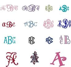 initial fonts for monogram designs