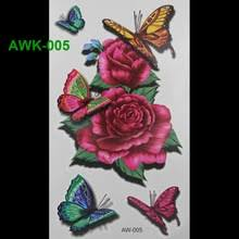 buy butterfly rose tattoos and get free shipping on aliexpress com