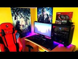 gaming setup ps4 the witcher posters made my gaming setup so epic do you like it