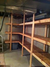 Wood Shelving Plans Garage by Best 25 Basement Storage Shelves Ideas On Pinterest Diy Storage