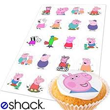 edible cake decorations 20x peppa pig edible cake toppers birthday cupcake