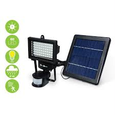 self contained motion detector light 60 led 420 lumen water resistant solar floodlight warm white motion