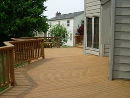 simple outdoor deck with best wood deck paint ideas and brown
