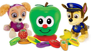 learning colors video children paw patrol apple sort