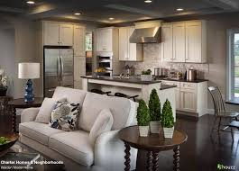 beautiful open kitchen and living room area love the feel of the