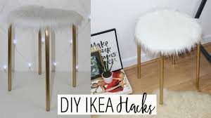 diy faux fur stool easy u0026 affordable ikea hacks ep 1 youtube