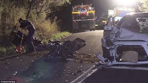 the aftermath of a deadly collision on nsw central coast between a