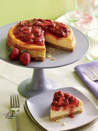 Lemon Cheesecake Decoration Strawberry Rhubarb Cheesecake Family Circle