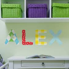 personalised childrens name wall stickers by the binary box personalised childrens name wall stickers