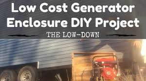 low cost generator enclosure diy project part 1 young couple
