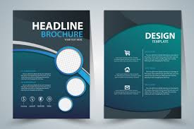 brochure templates adobe illustrator brochure template design with green style free vector in