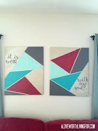 diy metallic geometric wall art u2014 a love worth living for