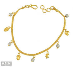 bracelet ladies gold images 22k gold ladies bracelet ajbr53913 22k gold fancy hanging jpg