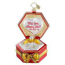 radko ornaments engagement ornament diamonds are forever
