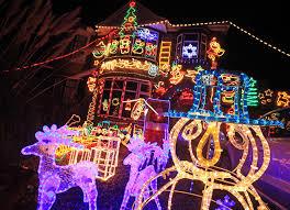 christmas light up house christmas ideas