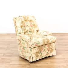 upholstered swivel rocker chairs beige floral upholstered swivel rocking chair loveseat vintage