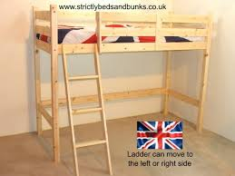 Bunk Beds Pine 200 X 98 X 158cm Oscar 3ft Single Solid Pine Loft Bunk Bed