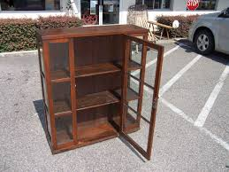 Wood Display Cabinets With Glass Doors Vintage Wooden Cabinet With Glass Doors Cabinet Doors