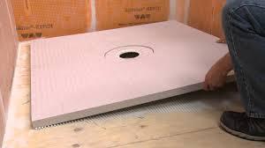 extending a schluter kerdi st shower tray with pack mortar