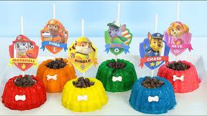 paw patrol mini cakes marshall skye dogs kids toys