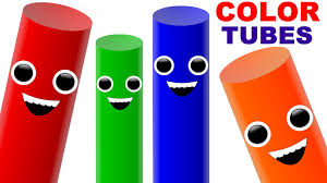 learn colors for kids with colour tubes crazy colors for children