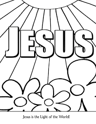 Jesus Is The Light Coloring Page Coloring Home Light Coloring Page