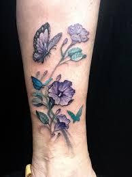 flower butterfly tattoos flower butterfly ankle nate