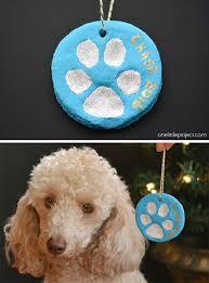 paw print salt dough ornaments one project