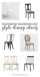 Farm House Dining Chairs Favorite Farmhouse Style Dining Chairs The House