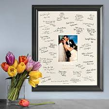 engravable wedding guest book personalized gift wedding wishes signature guest