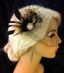 hair fascinator feather hair fascinator wedding hair clip prom chagne and