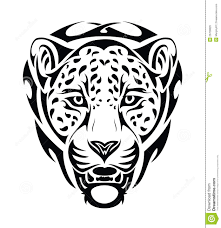 jaguar tribal isolated stock vector illustration of south