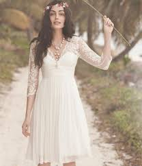 white lace dress with sleeves knee length 3 4 sleeves knee length wedding dresses white lace dresses for