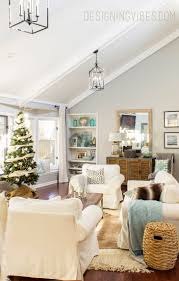 living room red gold and purple christmas tree mantels for