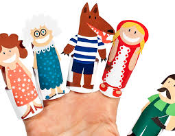 red riding hood paper finger puppets printable pdf pukaca