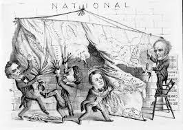 1860 Election Map by Harpweek Elections 1860 Medium Cartoons