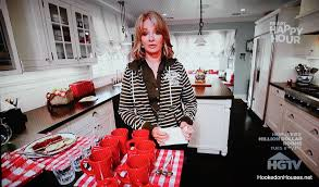 Hookedonhouses deidre hall in her red kitchen hooked on houses