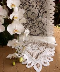 lace tablecloths overlays runners favour bags