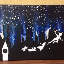home design melted crayon art disney peter pan sloped ceiling