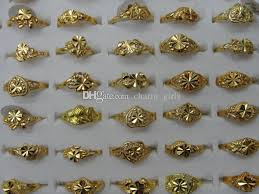 girls gold rings images Cheap price woman girl rings mix heart clover flower free size jpg